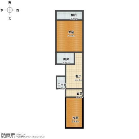 南礼士路三条2室1厅1卫1厨53.00㎡户型图
