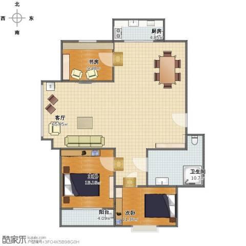 牛旺小区3室1厅1卫1厨132.00㎡户型图