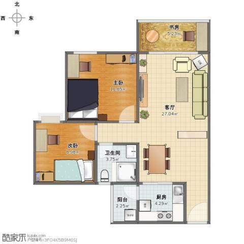 棕榈假日3室1厅1卫1厨71.00㎡户型图
