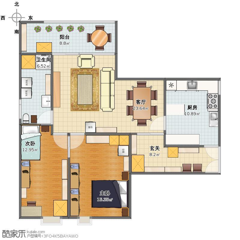 山水文园五期两室两厅