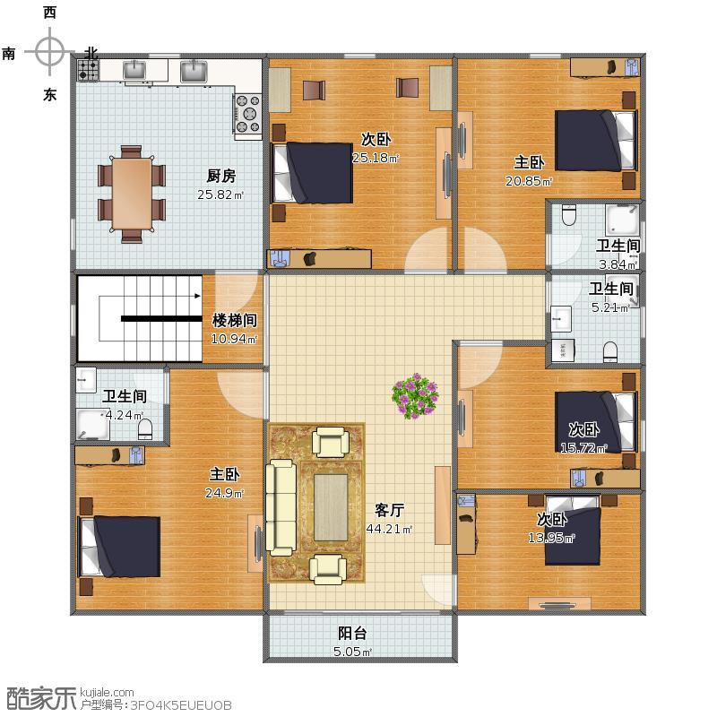 自建房(标准层)方案3