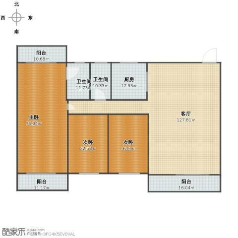 惠盛花园3室1厅1卫2厨367.00㎡户型图