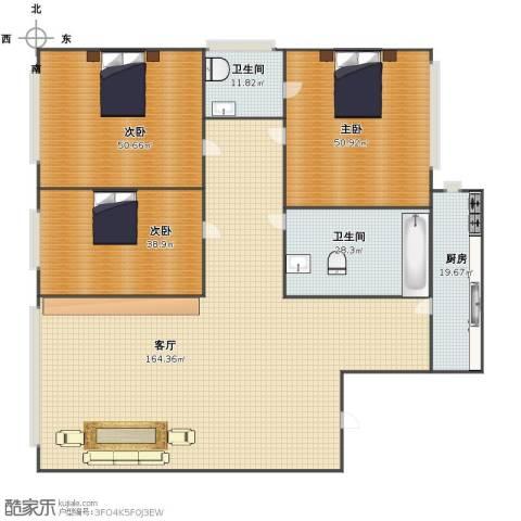 佳地花园3室1厅1卫2厨382.00㎡户型图