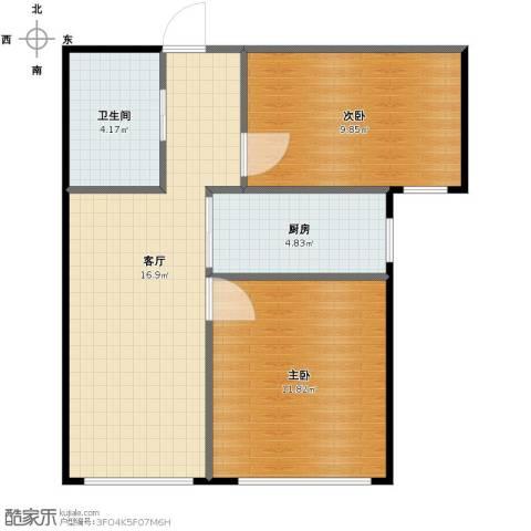 家豪圣托里尼2室1厅1卫1厨53.00㎡户型图