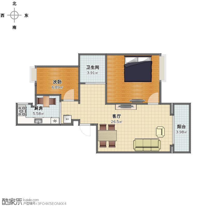 万达城市公寓户型图