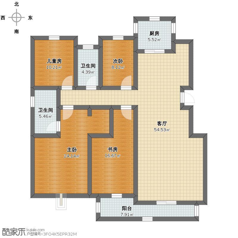 四室两厅.严俊江户型图