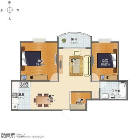 安业公寓3室2厅1卫1厨79.00㎡户型图