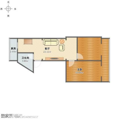 风采里1室1厅1卫1厨65.00㎡户型图