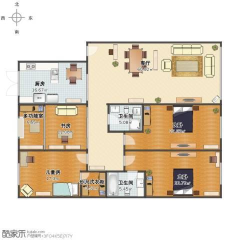 红旗新区4室1厅1卫2厨185.00㎡户型图