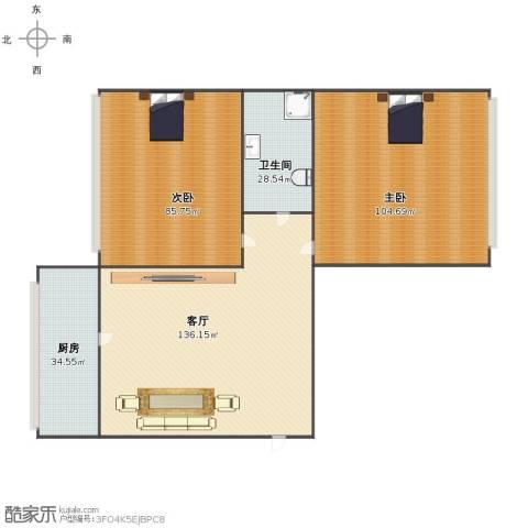 山西大学宿舍2室1厅1卫1厨406.00㎡户型图