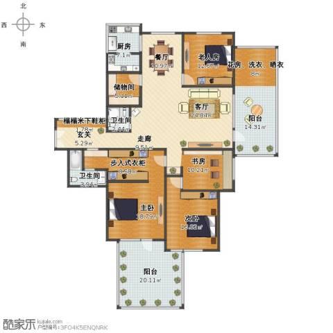 山海华府4室2厅1卫2厨200.00㎡户型图