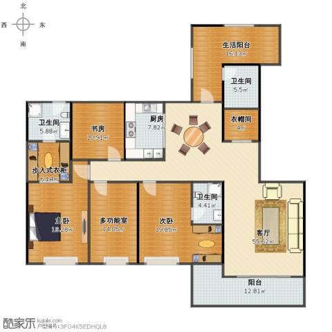 融景湾3室1厅1卫3厨200.00㎡户型图