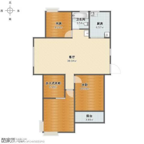 飞龙新苑2室1厅1卫1厨104.00㎡户型图