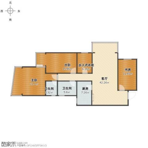 明日家园3室1厅1卫2厨125.00㎡户型图