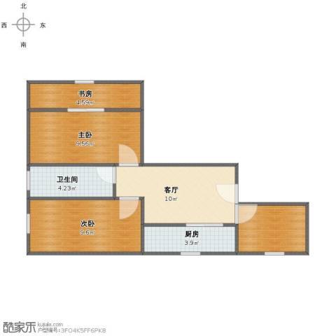 威宁大楼3室1厅1卫1厨54.00㎡户型图