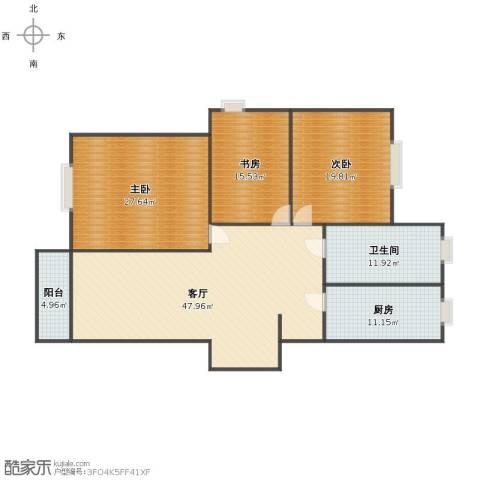 万成香格里拉3室1厅1卫1厨150.00㎡户型图