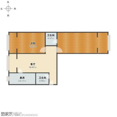 金基泰和苑1室1厅1卫2厨128.91㎡户型图
