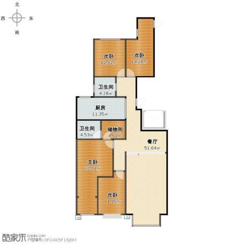 恩和家园4室1厅1卫2厨149.00㎡户型图