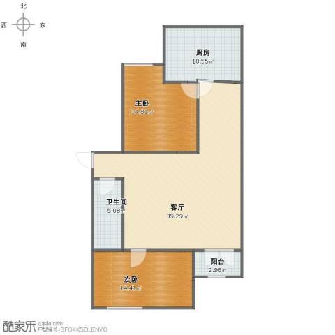 王府温馨公寓2室1厅1卫1厨95.53㎡户型图