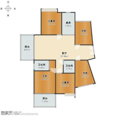 江南一品5室1厅1卫2厨141.00㎡户型图