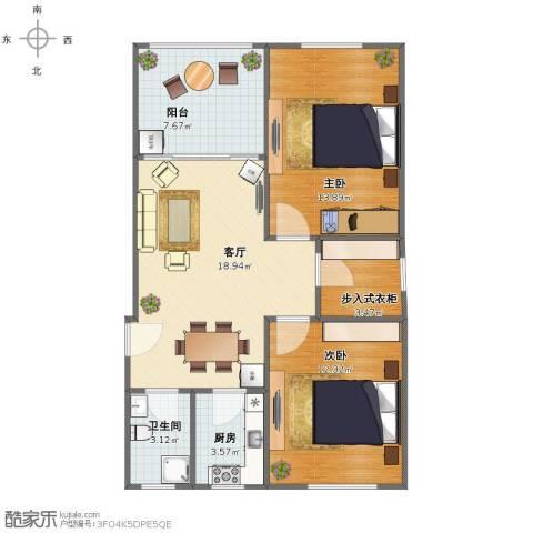 叙康里2室1厅1卫1厨70.00㎡户型图