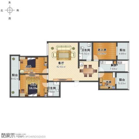 嘉园小区4室1厅1卫2厨148.00㎡户型图
