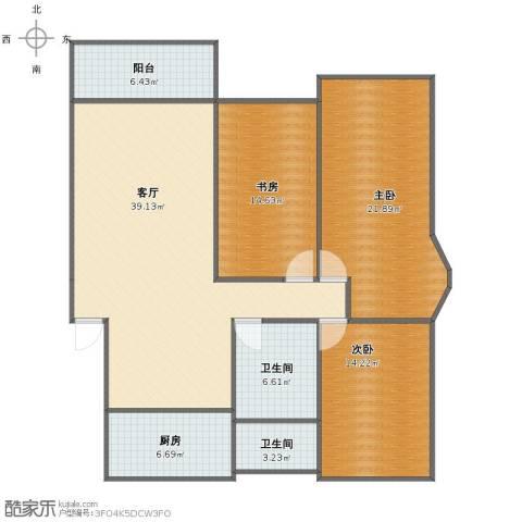 五四公路1120号3室1厅1卫2厨123.00㎡户型图