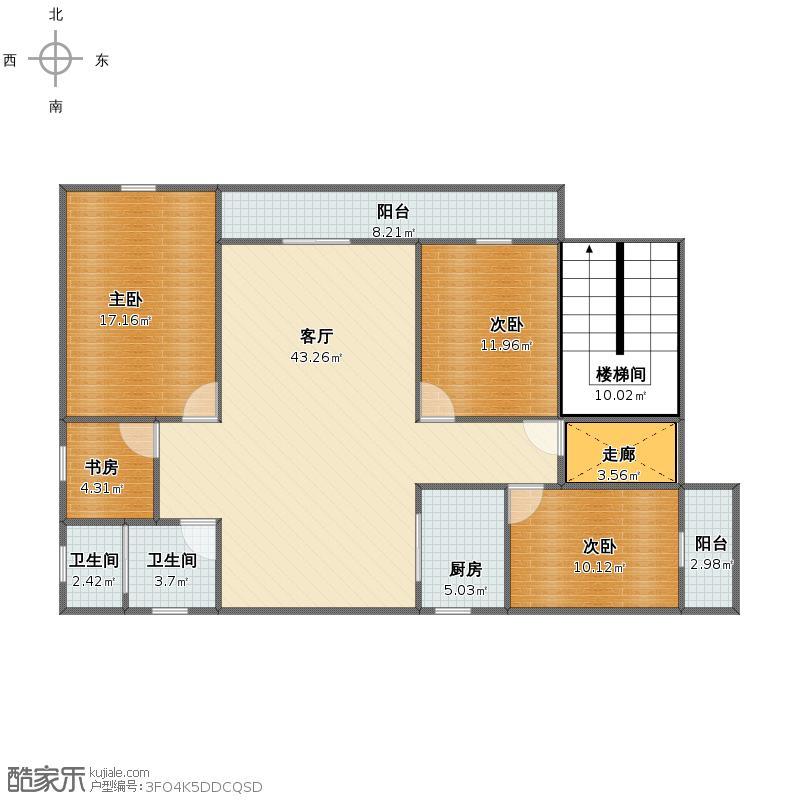 二楼A平面图