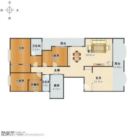 名苑华庭1室1厅1卫2厨195.00㎡户型图