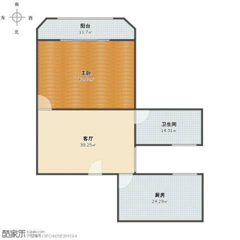 芷江西路285弄小区1室1厅1卫1厨142.00㎡户型图