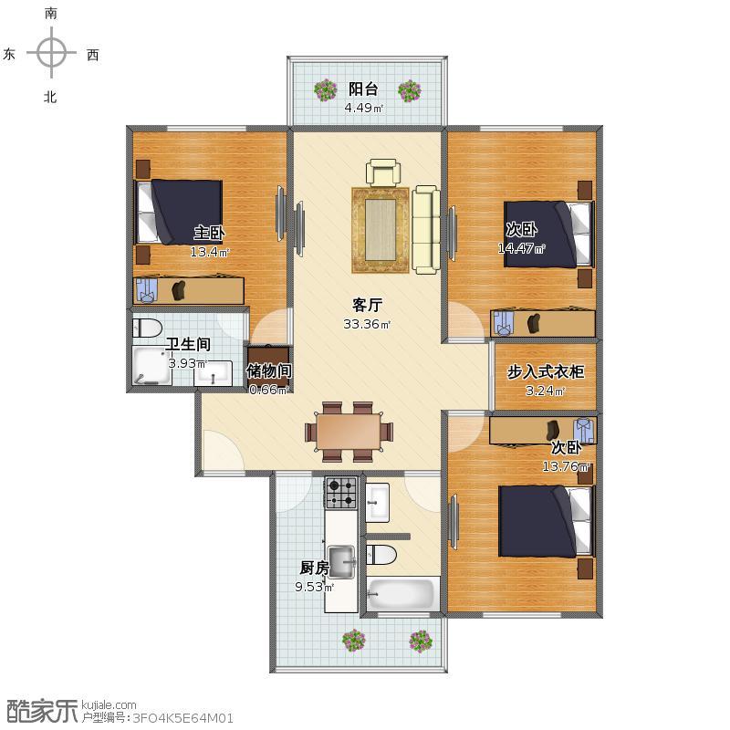 浦东新区牡丹路89弄402室牡丹苑户型图