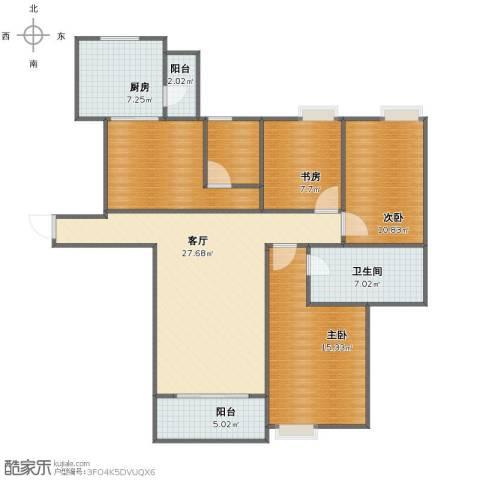 世贸天城3室1厅1卫1厨109.00㎡户型图