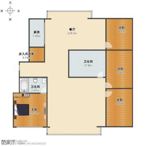 丽华甲第苑4室1厅1卫2厨241.00㎡户型图
