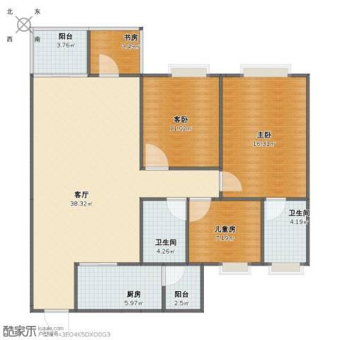 时代倾城4室1厅1卫2厨107.00㎡户型图