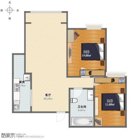 泰达御海2室1厅1卫1厨81.00㎡户型图