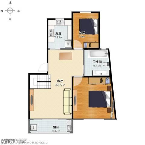 欧风家园1室1厅1卫1厨69.00㎡户型图