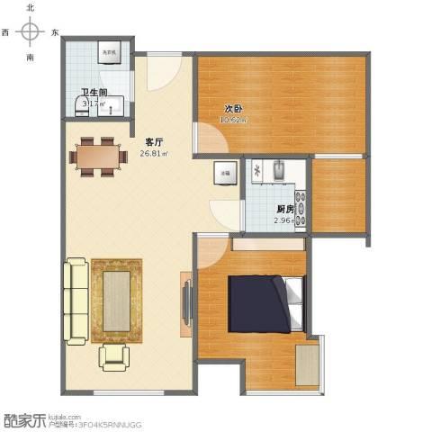 山海景湾1室1厅1卫1厨63.00㎡户型图