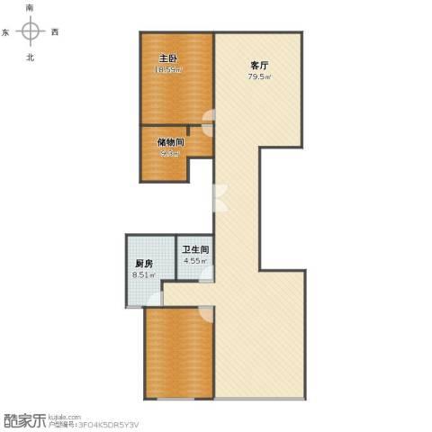 长风画卷1室1厅1卫1厨150.00㎡户型图