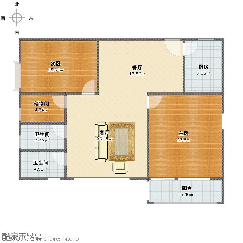 山水文园两室两厅