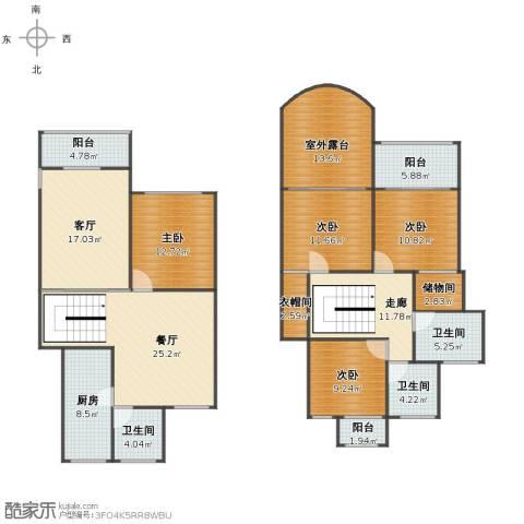 明日新苑4室2厅1卫3厨166.00㎡户型图