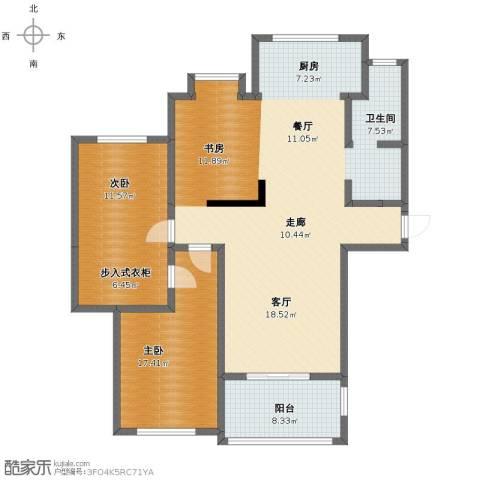 泰和天成3室2厅1卫1厨129.00㎡户型图