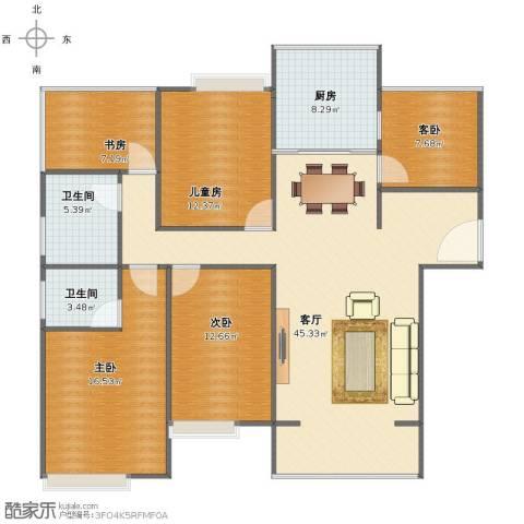 百盛国际名都5室1厅1卫2厨131.00㎡户型图