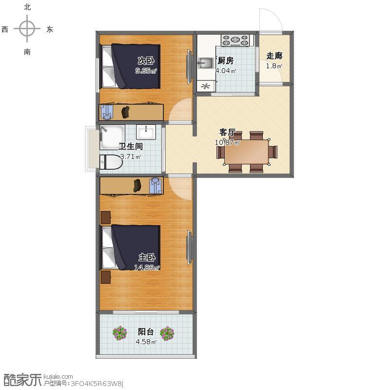 杨浦区长阳路1980弄1804室永久公寓户型图