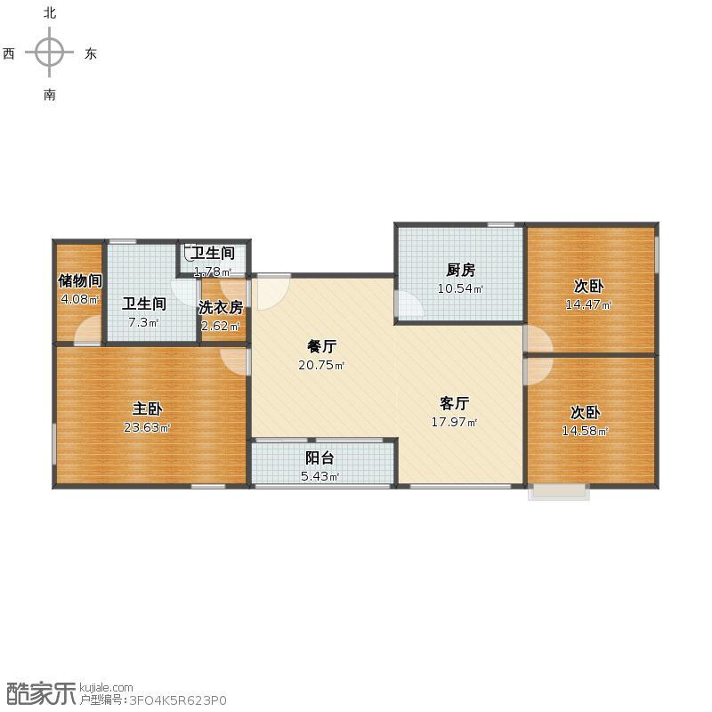 山水文园三室两厅两卫