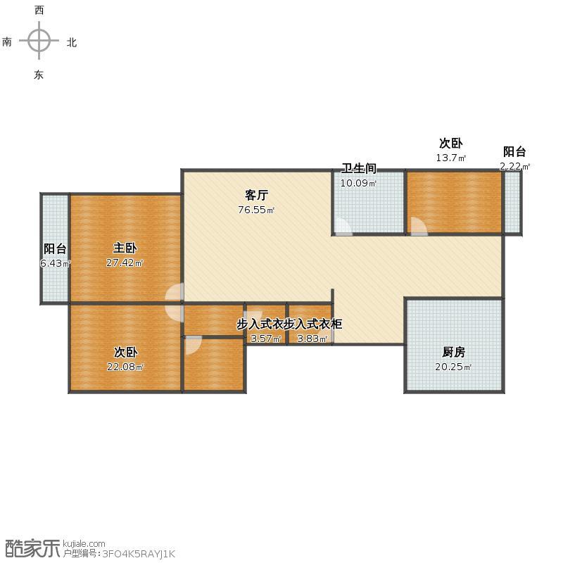 丽华苑 3-1-1702户型图