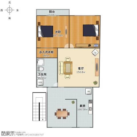 康泰公寓二期1室1厅1卫1厨616.00㎡户型图
