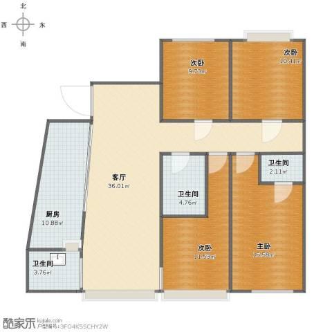 骊马豪城4室1厅1卫3厨116.00㎡户型图