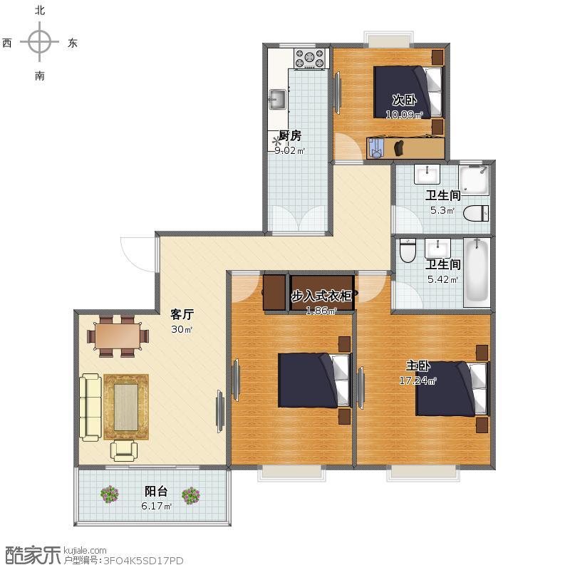 浦东环龙路439弄101室方圆公寓户型图