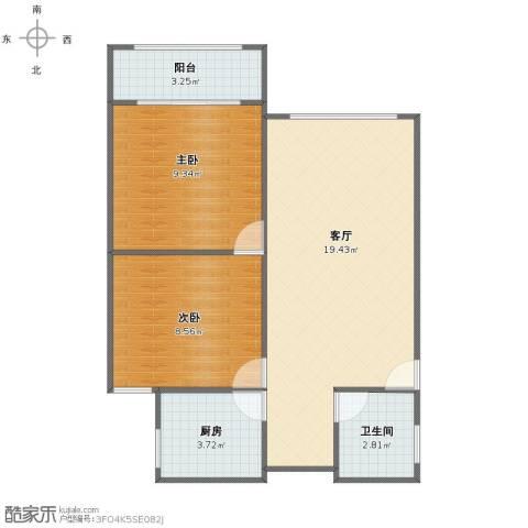 田林十四村2室1厅1卫1厨52.00㎡户型图