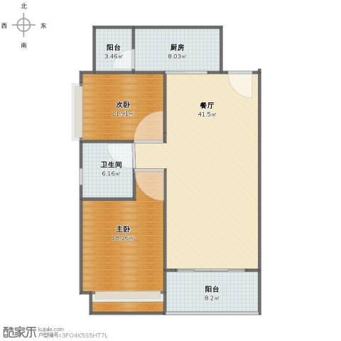 恒大名都2室1厅1卫1厨110.00㎡户型图